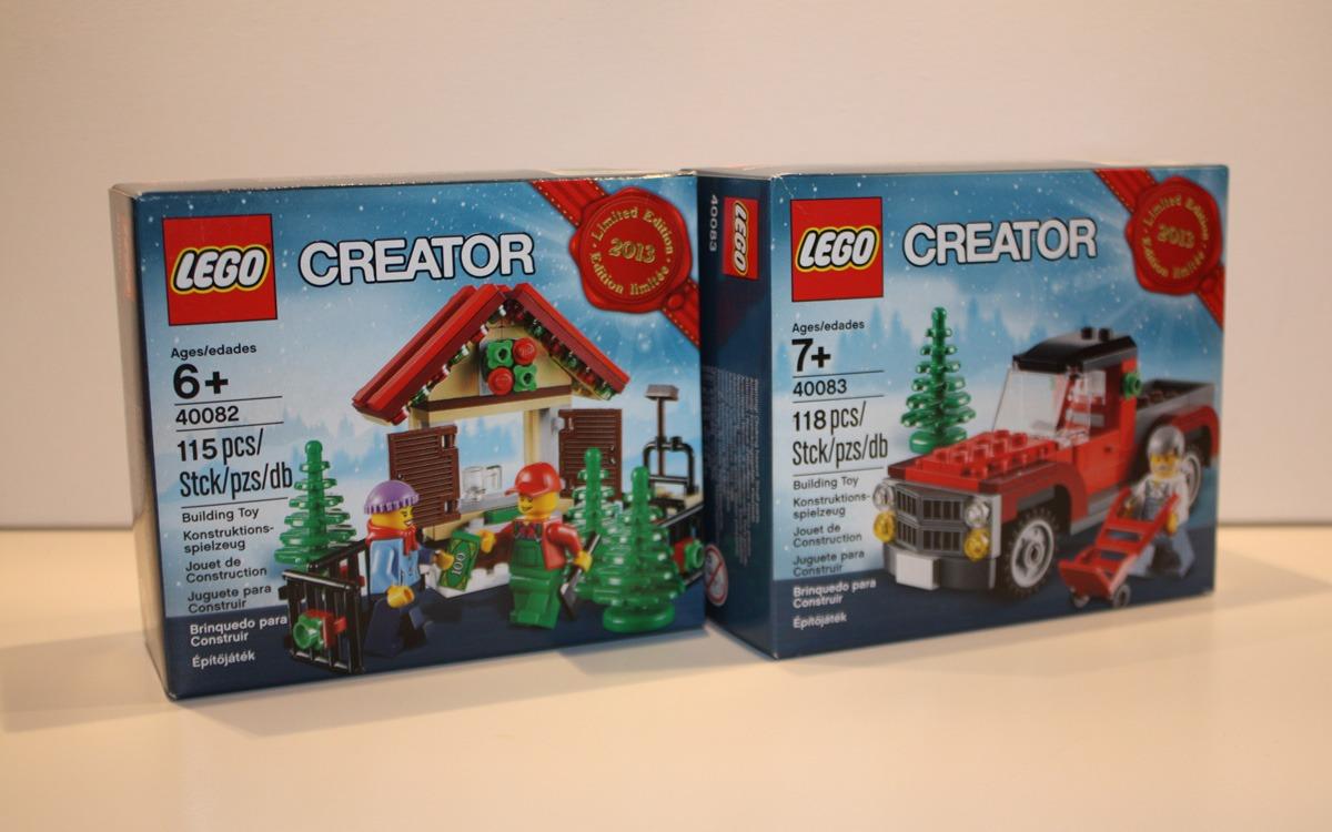 LEGO Creator 2013 limited edition 40082 en 40083 doosjes