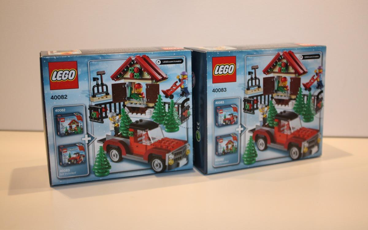 LEGO Creator 2013 limited edition 40082 en 40083 achterkant