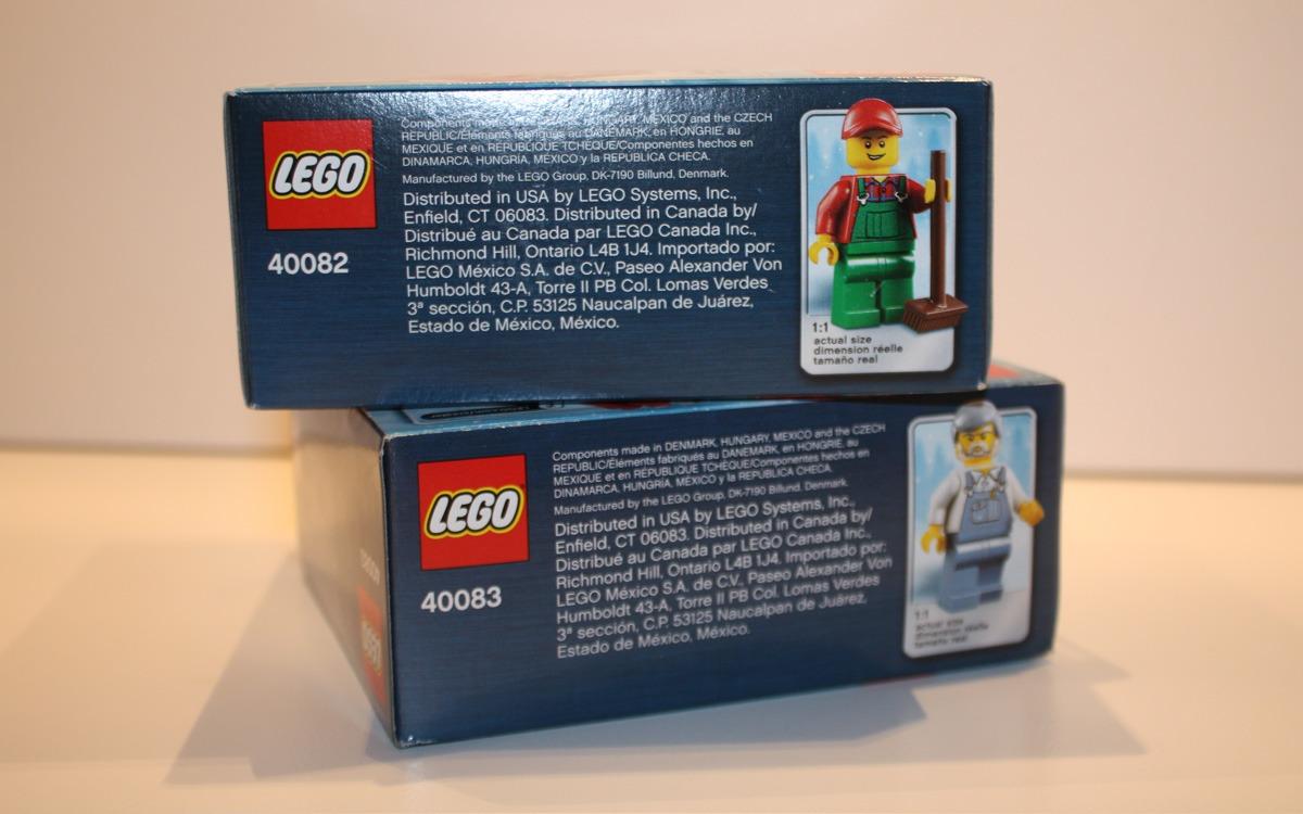 LEGO Creator 2013 limited edition 40082 en 40083 zijkant
