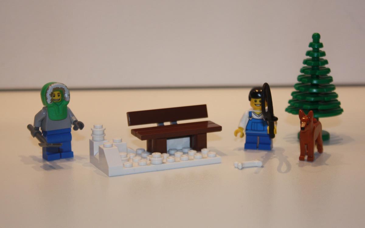 LEGO 10222 Winter Postkantoor bankje