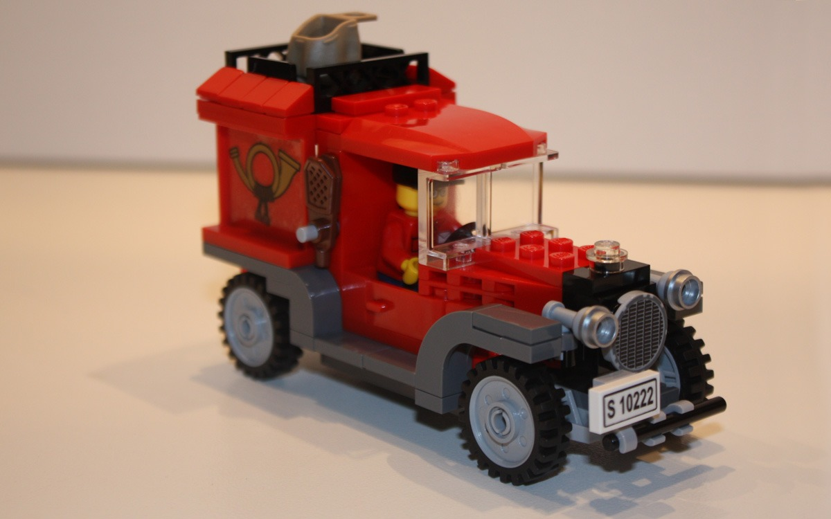 LEGO 10222 Winter Postkantoor postwagen