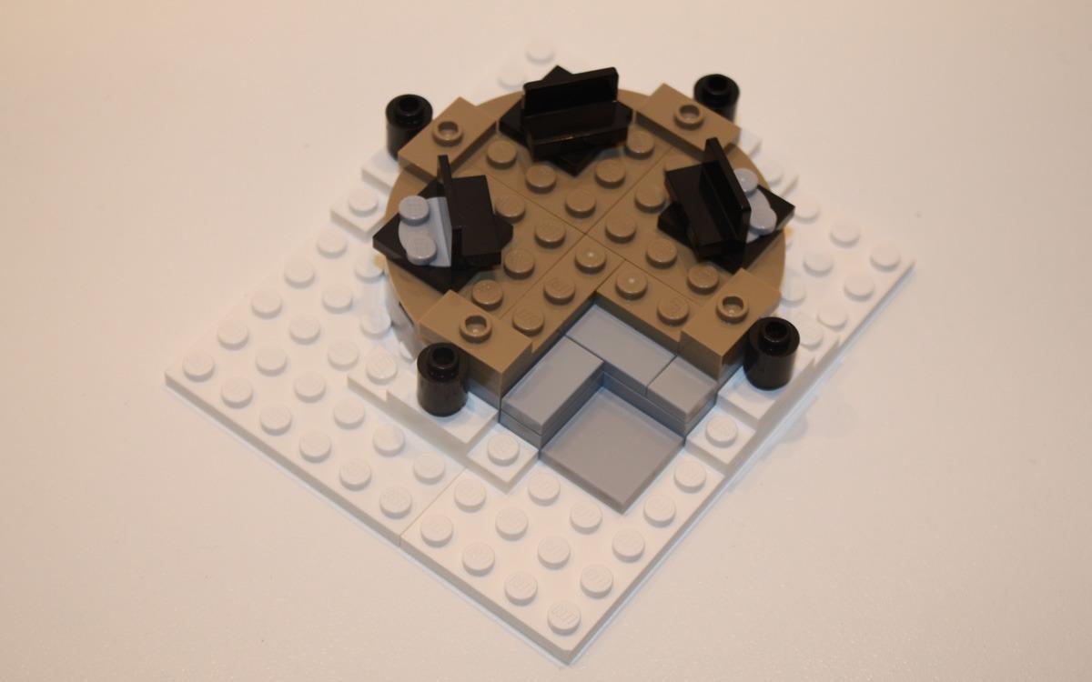 LEGO 10222 Winter Postkantoor vloer tuinhuisje