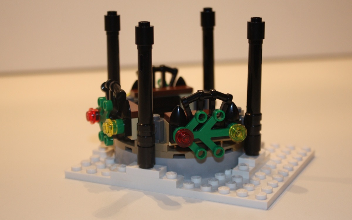 LEGO 10222 Winter Postkantoor tuinhuisje bankjes