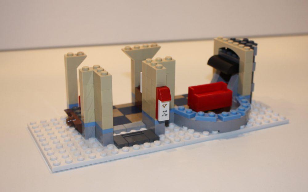 LEGO 10222 Winter Postkantoor muren