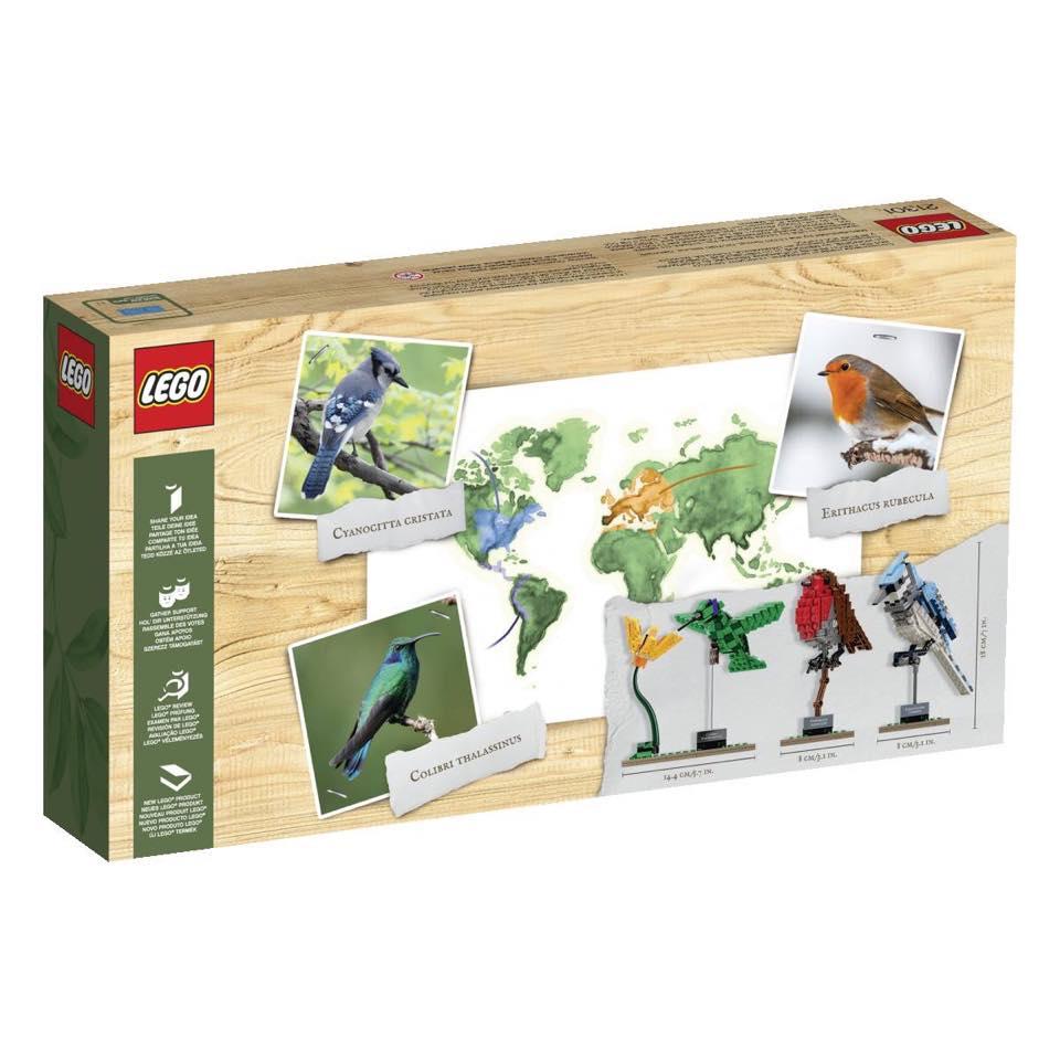 LEGO Ideas 21301 Vogels doos achterkant