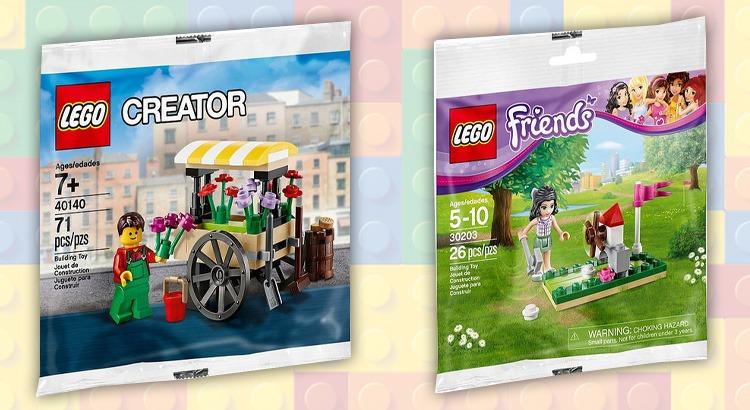 LEGO Creator 40140 Bloemenkar en de LEGO Friends 30203 Mini Golf Polybags