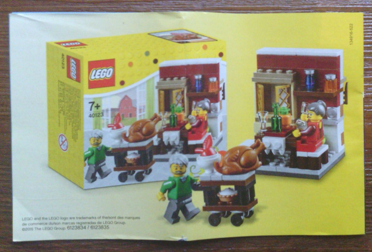 LEGO Seasonal 40123 Thanksgiving set