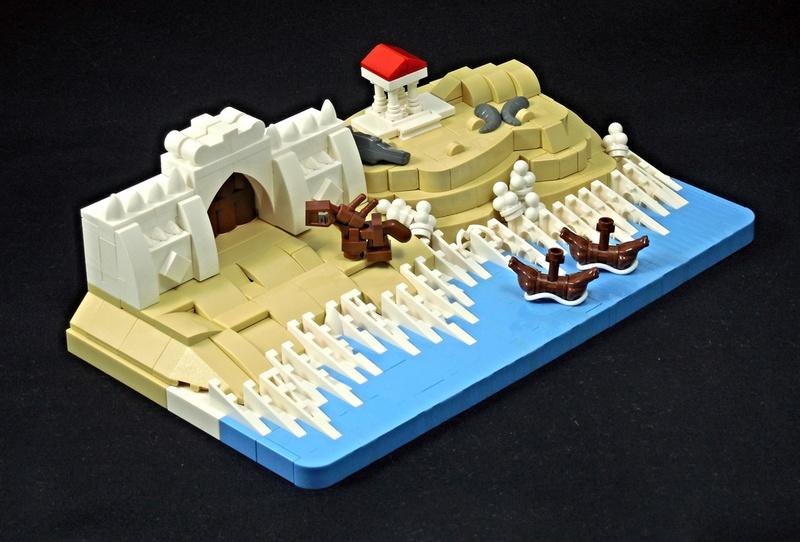 LEGO microscale scene's door P. Andrei