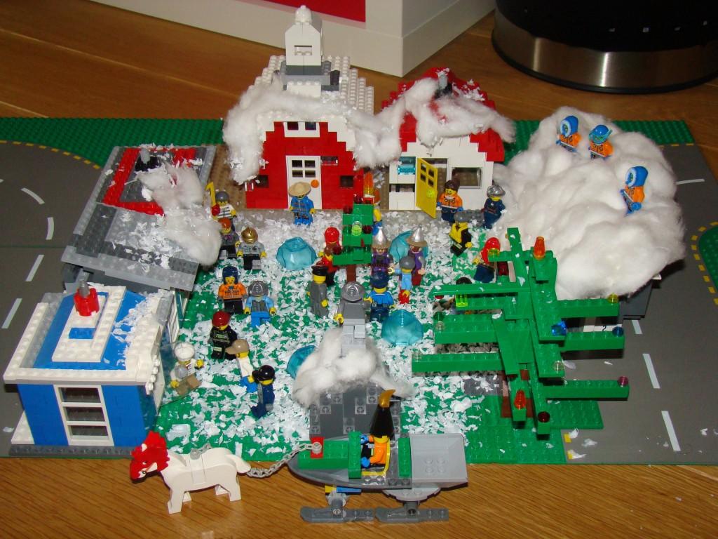 LEGO Kerstdorp van Robin en Bas Hubregtse