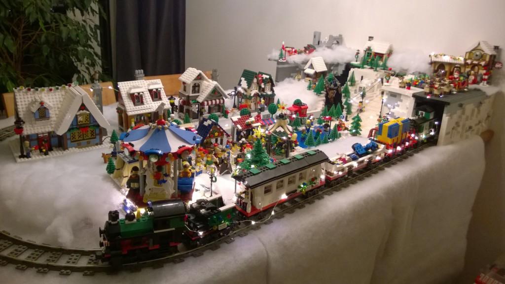 LEGO Kerstdorp van Edwin van Bentum