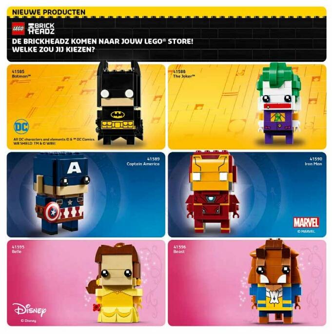 LEGO Store promoties maart/april 2017