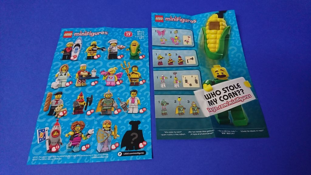 LEGO 71018 CMF series 17 leaflet