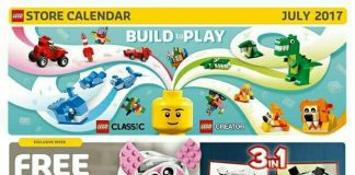 US LEGO Store Calendar july 2017