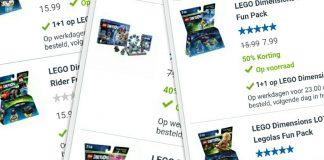 1+1 gratis op alle LEGO Dimensions packs