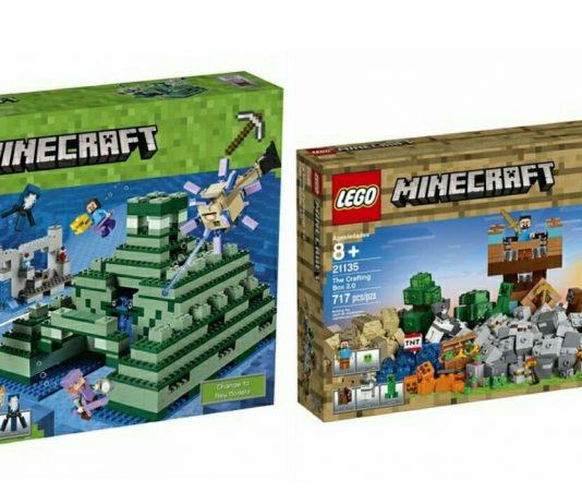 Visuals LEGO Minecraft 21135 en 21136 verschenen