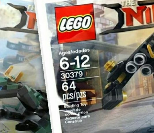 LEGO Ninjago Movie 30428 Green Ninjago Mech Dragon & LEGO Ninjago Movie 30379 Quake Mech