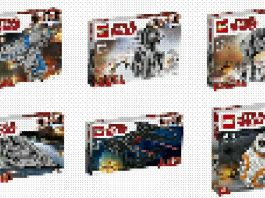 LEGO Star Wars The Last Jedi sets