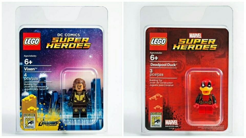 LEGO SDCC Vixen en Deadpool Duck Minifigures