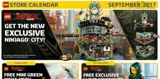 Amerikaanse LEGO Store Calendar september 2017