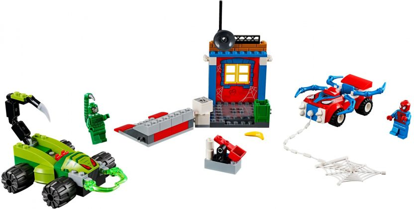 LEGO Juniors 10754 Spider-Man vs Scorpion Street Showdown