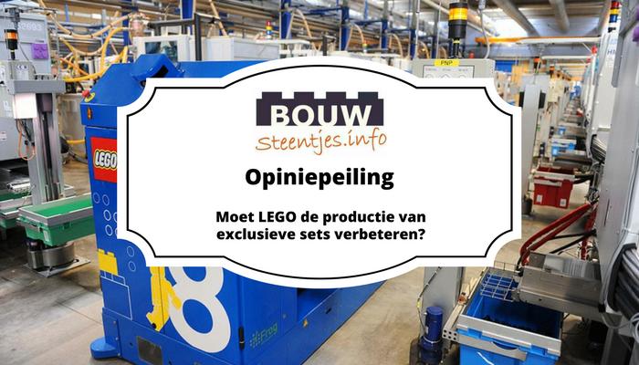 Moet LEGO de productie van exclusieve sets verbeteren?