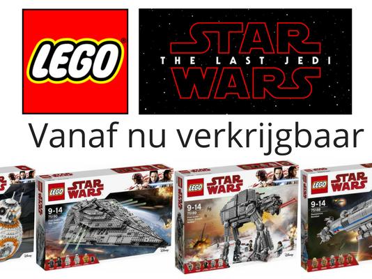 LEGO Star Wars The Last Jedi sets nu verkrijgbaar