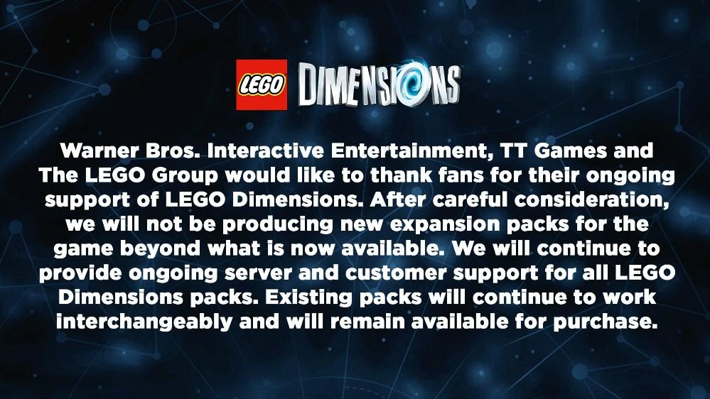 LEGO Dimensions officieel beëindigd