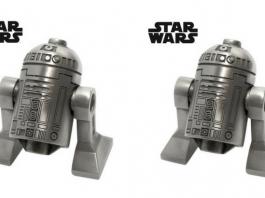 Exclusieve platina R2-D2 Minifig