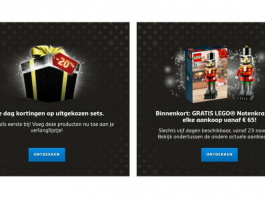 LEGO Brick Friday en Cyber Monday promoties 2017
