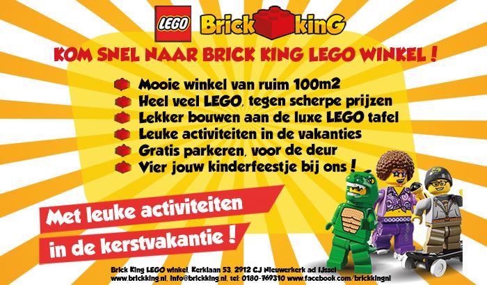 Brick King banner Bouwsteentjes