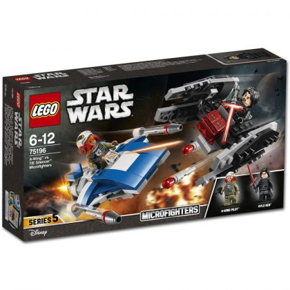 LEGO Star Wars 75196 A-Wing vs TIE Silencer Microfighters