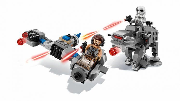 LEGO Star Wars 75195 Ski Speeder vs First Order Walker Microfighters
