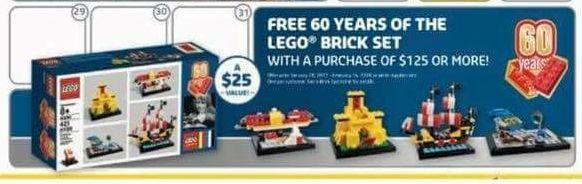 LEGO 60 Years of the LEGO Brick Set