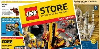 LEGO Store kalender januari-februari 2018