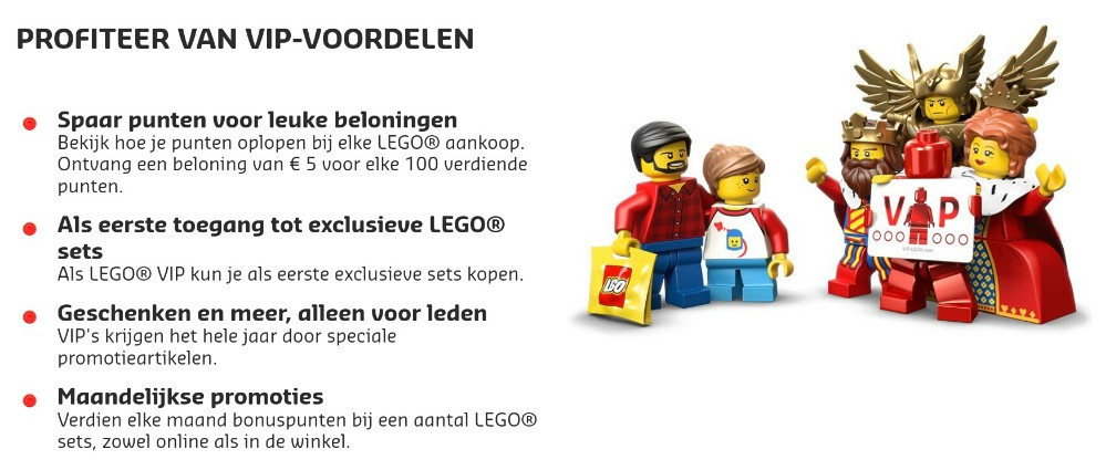 Alles over LEGO VIP
