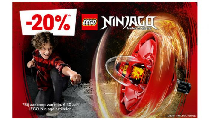 20% korting op LEGO Ninjago sets