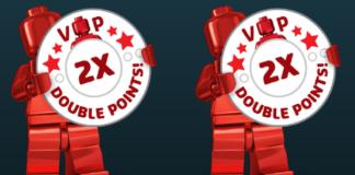 Dubbele LEGO VIP punten maart 2018
