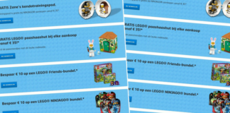 LEGO promoties maart 2018
