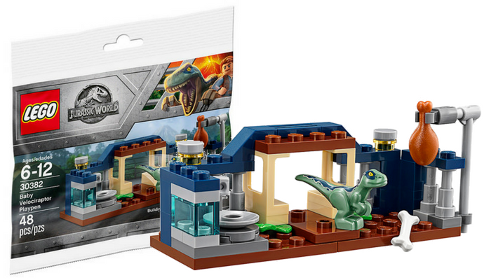Gratis LEGO Jurassic World 30382 Baby Velociraptor Playpen