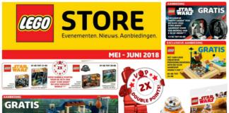LEGO store kalender mei-juni 2018