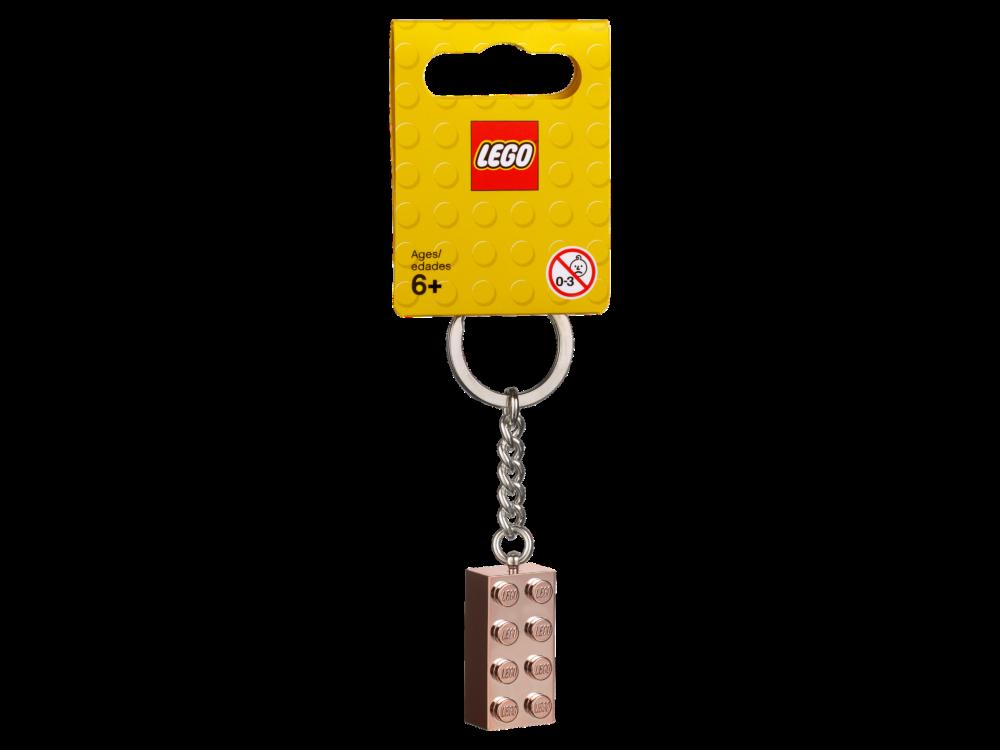 LEGO 853793 2x4 rosegouden sleutelhanger