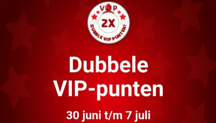 Dubbele VIP punten juli 2018