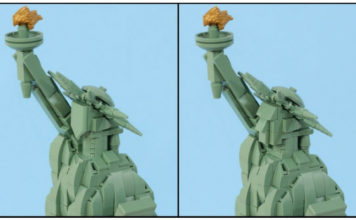 Geef LEGO Architecture Statue of Liberty een gezicht