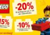 Tot 20% korting op al het LEGO