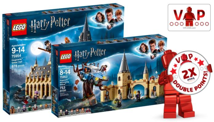 Dubbele VIP punten op LEGO Harry Potter
