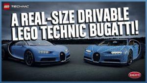 Levensgrote LEGO Technic Bugatti Chiron