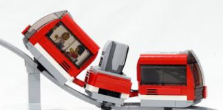 Gemotoriseerde LEGO Roller Coaster Monorail
