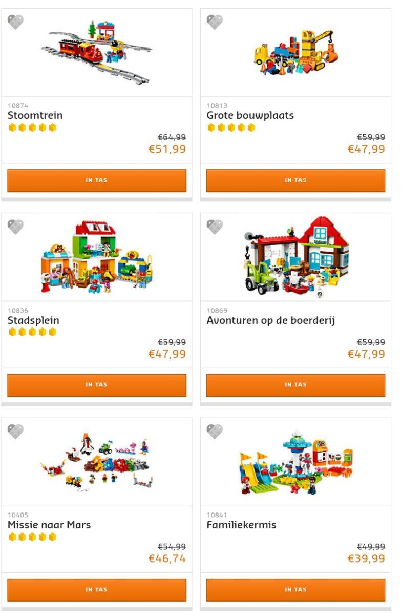 LEGO Duplo uitverkoop op LEGO Shop@Home