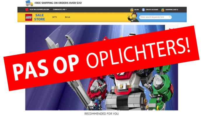 Pas op voor neppe online LEGO Shops