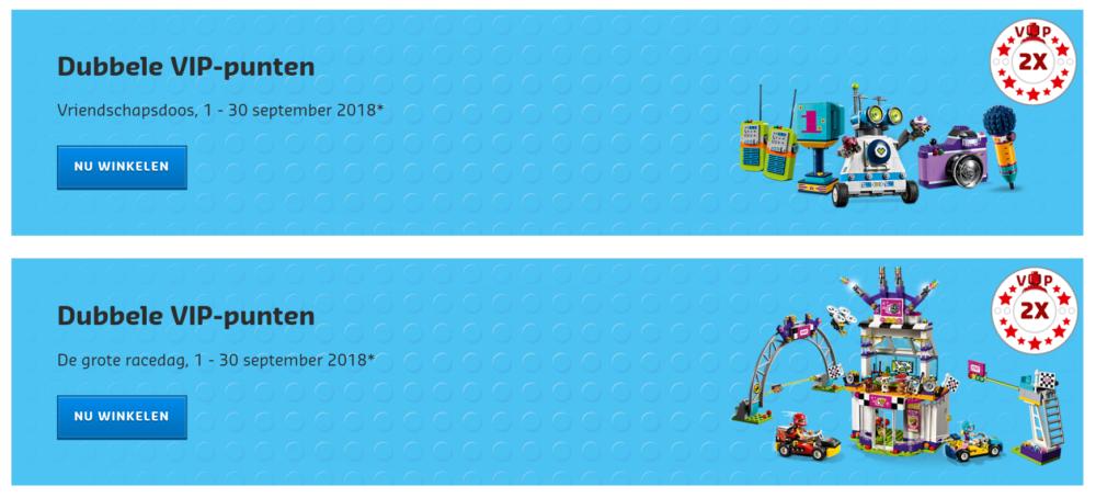 Dubbele VIP punten LEGO Friends